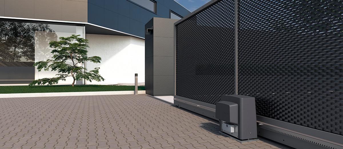 Стильный дизайн привода для откатных ворот