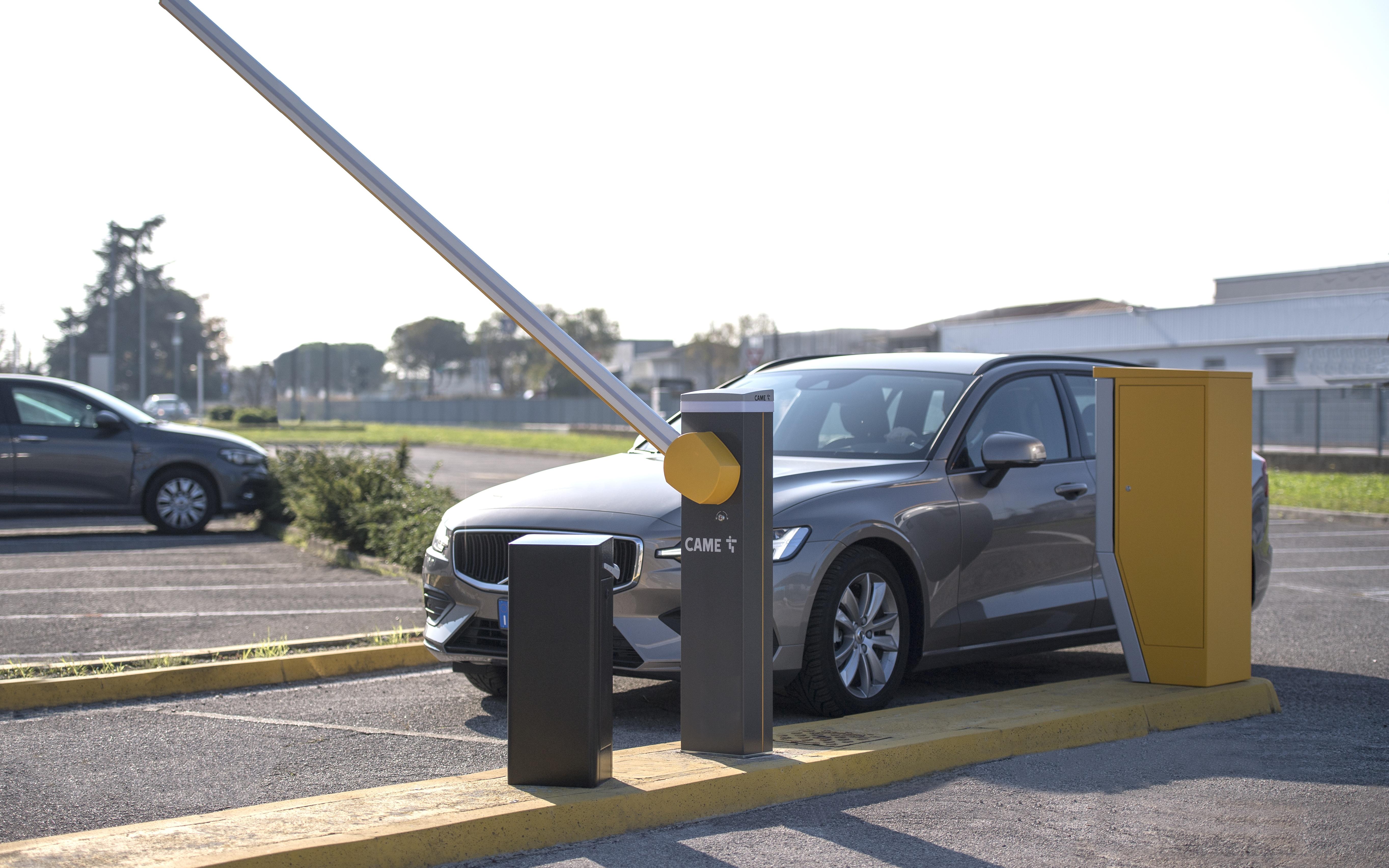 Установка шлагбаума с парковочной системой