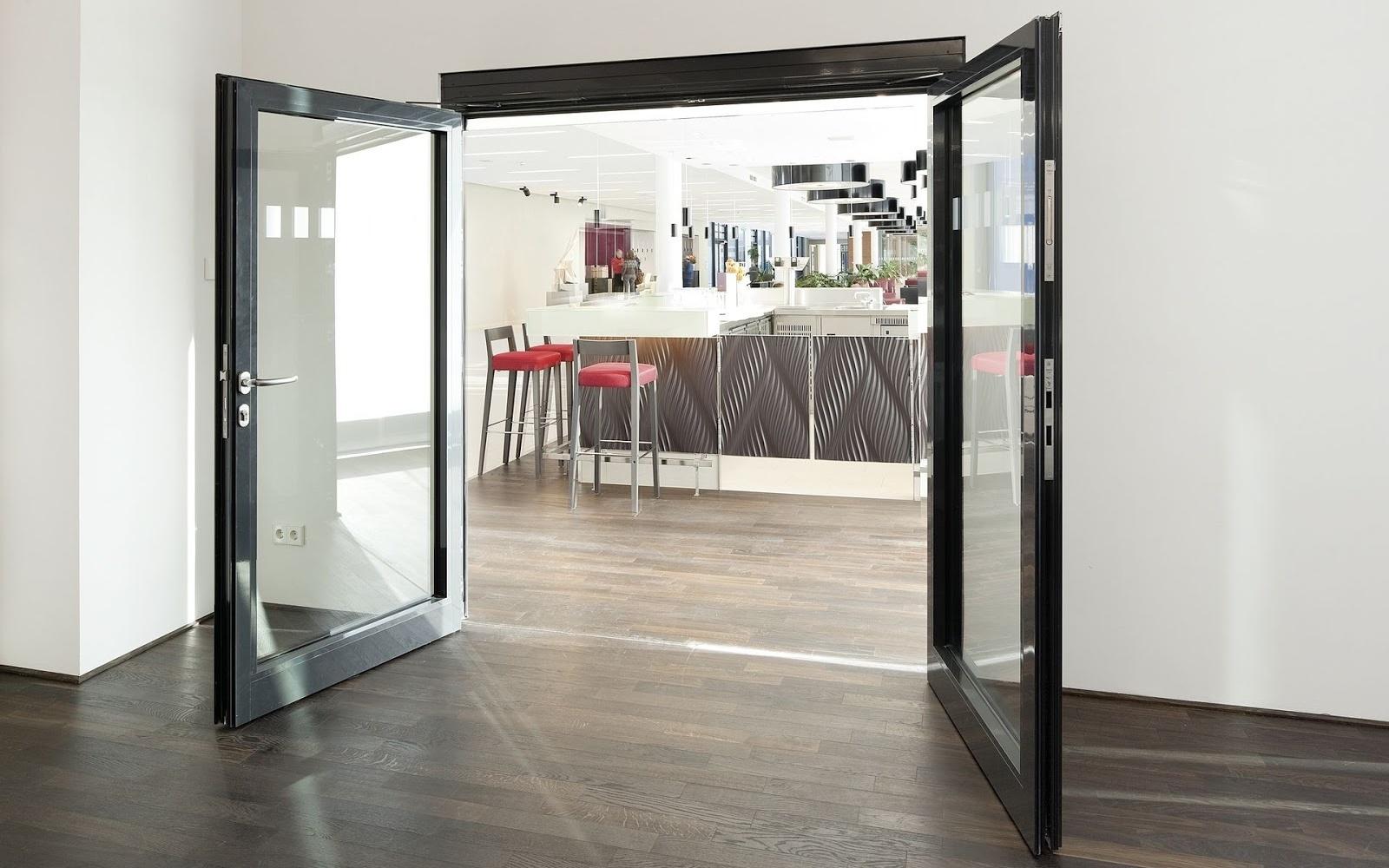 Удобные и стильные автоматические распашные двери